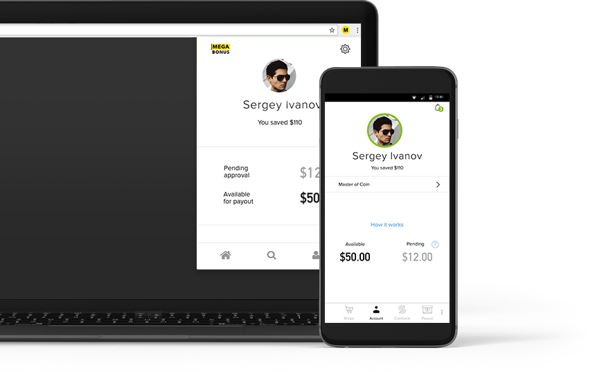 Приложение кэшбэк-сервиса Megabonus для iOS и браузерное расширение
