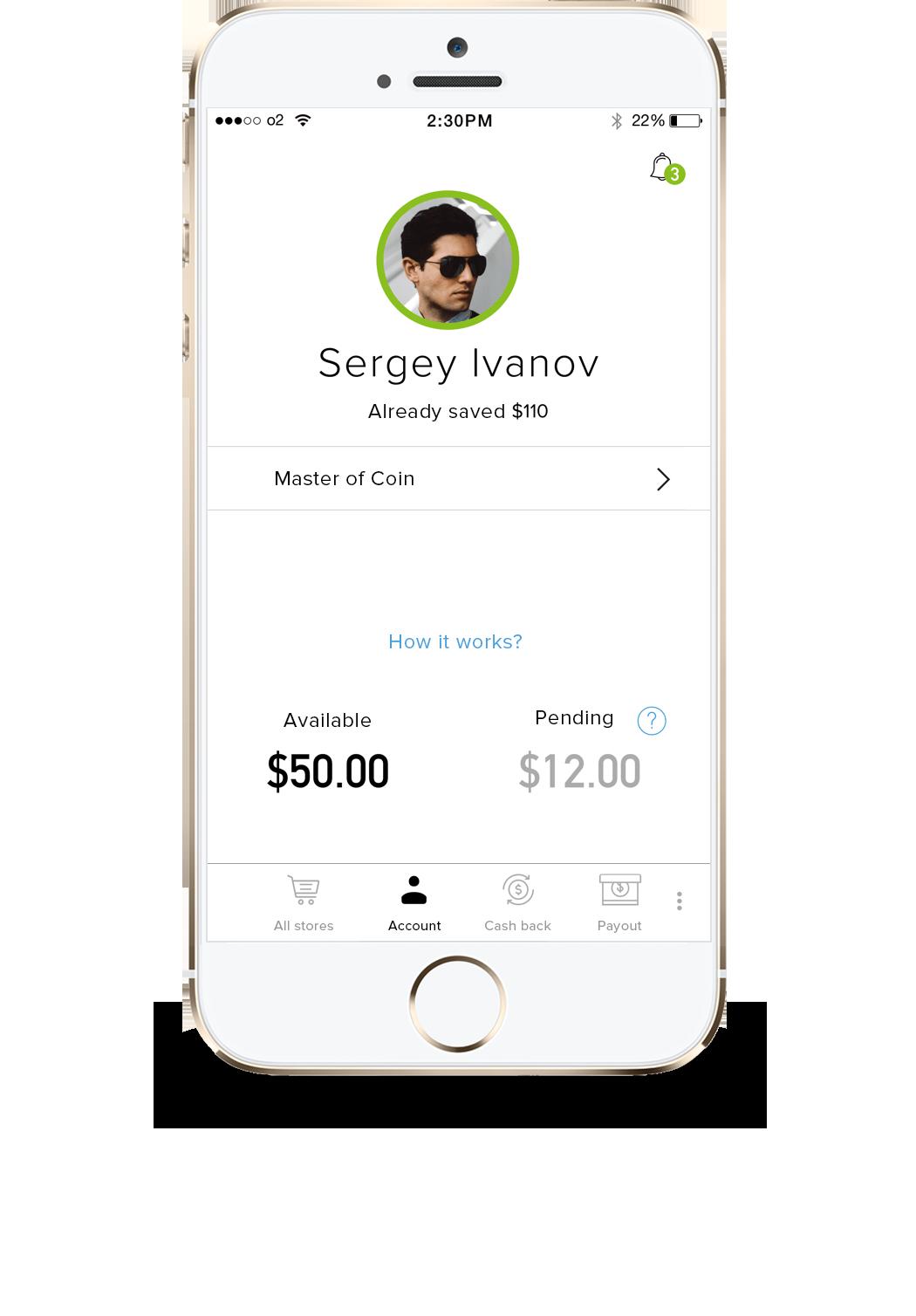 Мобильное приложение для получения кэшбэка от Megabonus для iPhone и iOS