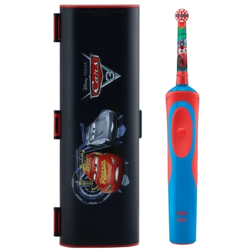 Электрическая зубная щетка Oral-B Stages Power Тачки D12.513K + чехол