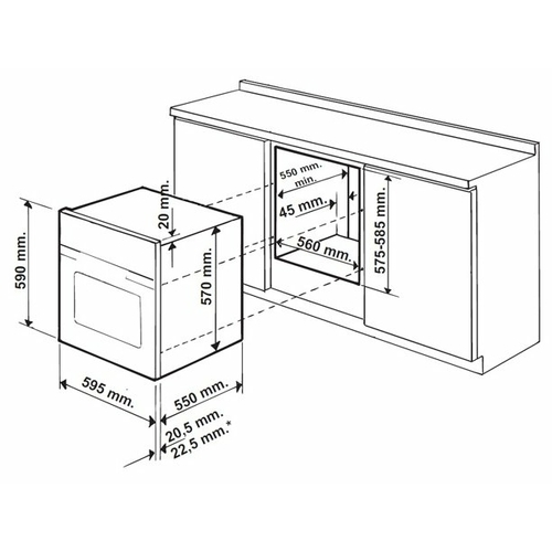 Электрический духовой шкаф Hotpoint-Ariston FD 610 (MR)