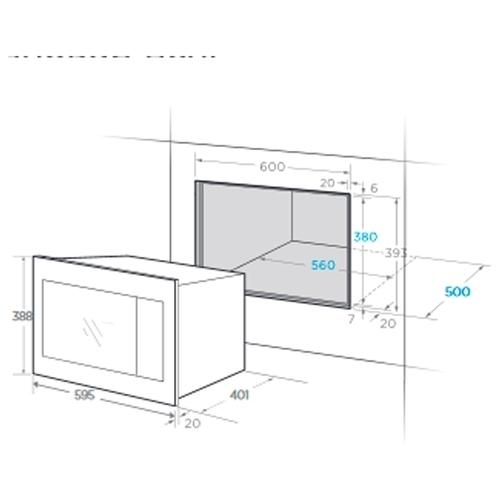 Микроволновая печь встраиваемая Midea TG925B8D-BL