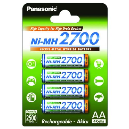 Аккумулятор Ni-Mh 2700 мА·ч Panasonic Rechargeable Accu AA
