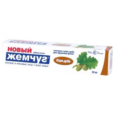 Зубная паста Новый Жемчуг Кора дуба