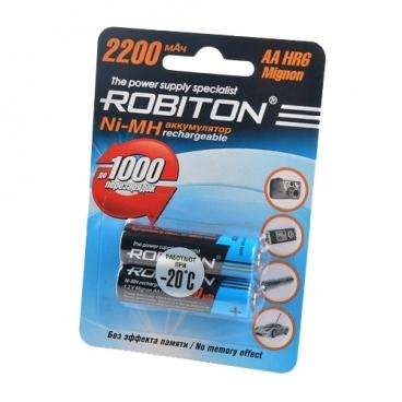 Аккумулятор Ni-Mh 2200 мА·ч ROBITON AA HR6 Mignon 2200
