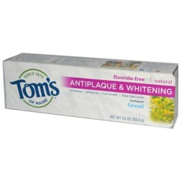 Зубная паста Tom's of Maine Antiplaque & Whitening Фенхель