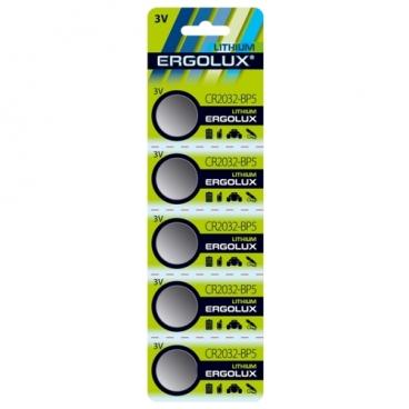 Батарейка Ergolux CR2032