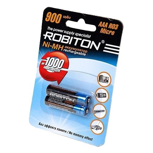 Аккумулятор Ni-Mh 900 мА·ч ROBITON AAA R03 Micro 900