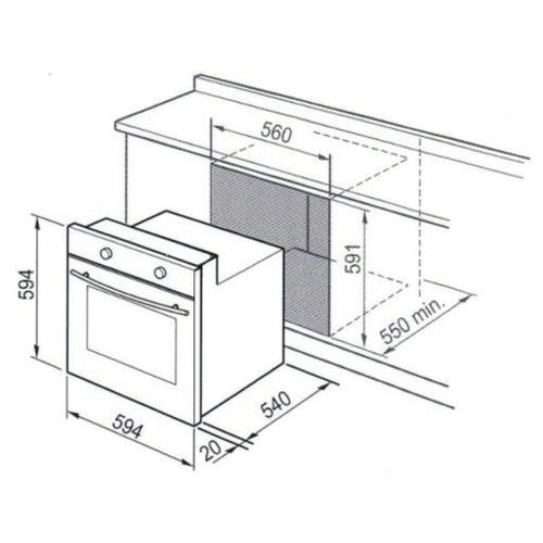 Газовый духовой шкаф De'Longhi SGN 4 RUS