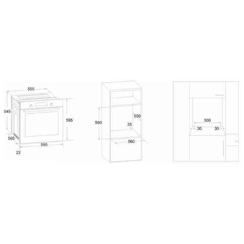 Электрический духовой шкаф Simfer B6EL18017