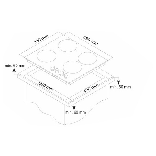 Варочная панель Simfer H60Q40M511