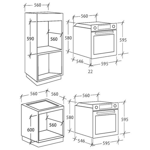Электрический духовой шкаф Candy FCP 612 NXL