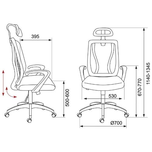 Компьютерное кресло Бюрократ MC-W411-H для руководителя