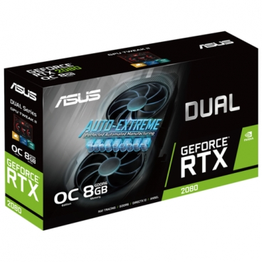 Видеокарта ASUS DUAL GeForce RTX 2080 1515MHz PCI-E 3.0 8192MB 14000MHz 256 bit 3xDisplayPort HDMI HDCP Advanced EVO