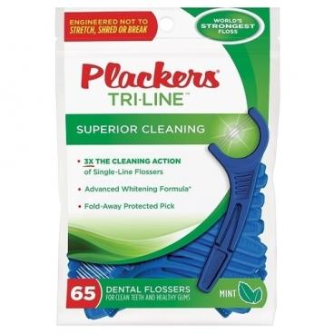 Plackers Tri-Line флоссер для ухода за полостью рта