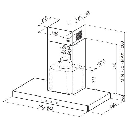 Каминная вытяжка Faber Stilux EG8 X/V A90 Logic