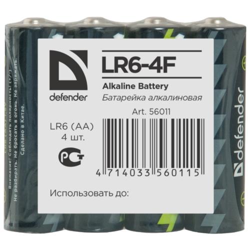 Батарейка Defender алкалиновая AA LR6