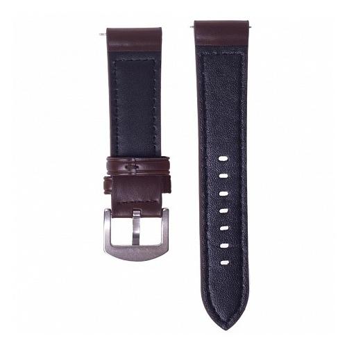 GSMIN Кожаный ремешок Slim для Samsung Gear S3 Frontier/Classic/Galaxy Watch (46 mm)