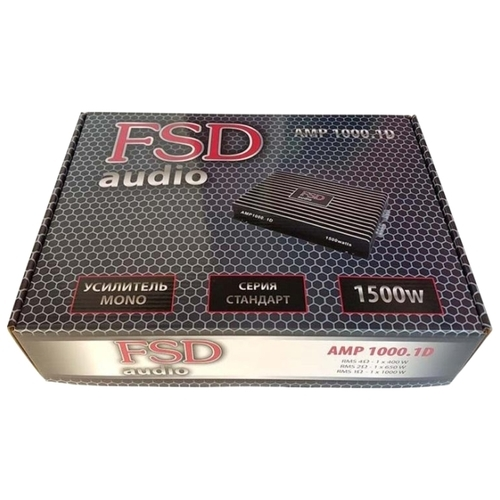 Автомобильный усилитель FSD audio STANDART AMP 1000.1D