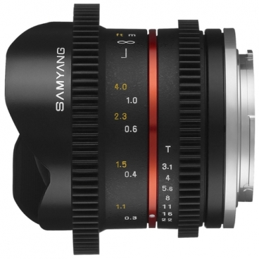 Объектив Samyang 8mm T3.1 V-DSLR UMC Fish-eye II Canon M""