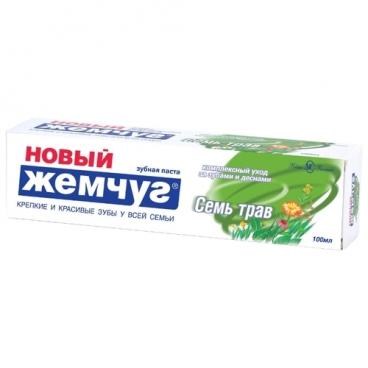Зубная паста Новый Жемчуг Семь трав