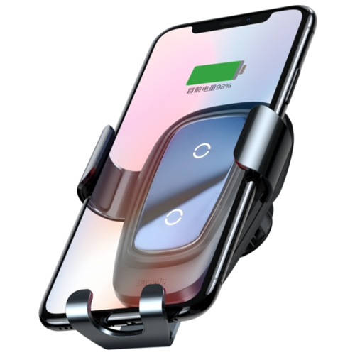 Держатель с беспроводной зарядкой Baseus Metal Wireless Charger Gravity Car Mount (Air Outlet Version)