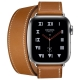 Часы Apple Watch Hermès Series 4 GPS + Cellular 40mm Stainless Steel Case with Leather Double Tour