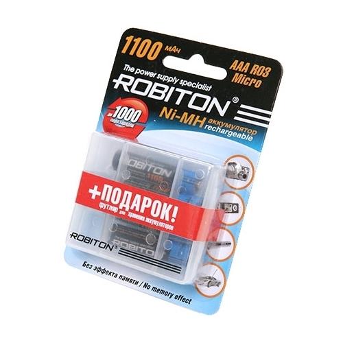 Аккумулятор Ni-Mh 1100 мА·ч ROBITON AAA R03 Micro 1100