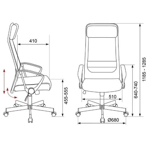 Компьютерное кресло Бюрократ T-995HOME для руководителя