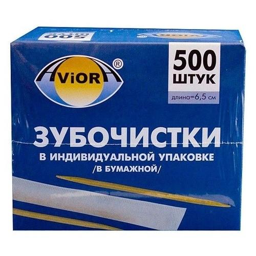 Aviora зубочистки Бамбуковые в инд. упаковке (в бумаге)