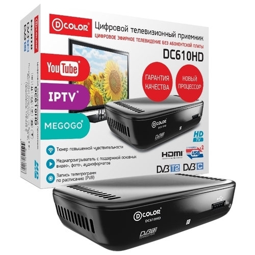TV-тюнер D-COLOR DC610HD