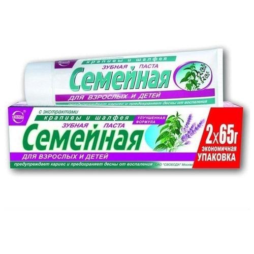 Зубная паста СВОБОДА Семейная Крапива и шалфей
