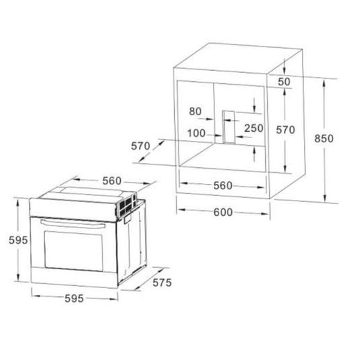 Электрический духовой шкаф AKPO PEA 7008MMD BL