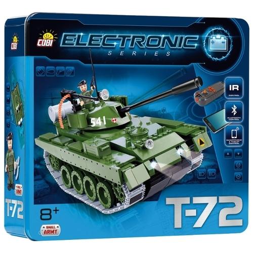 Электромеханический конструктор Cobi Electronic 21904 Танк T-72