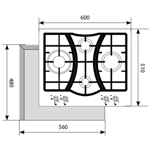 Варочная панель LEX GVE 643C IV
