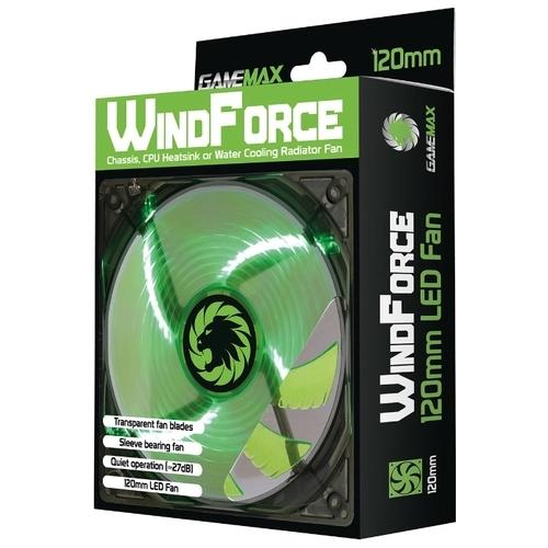 Система охлаждения для корпуса GameMax WindForce 4 x Green LED