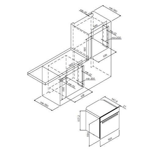 Электрический духовой шкаф GRAUDE BM 60.3 W