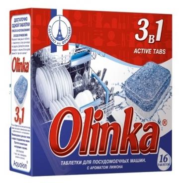 Olinka 3 в 1 таблетки для посудомоечной машины