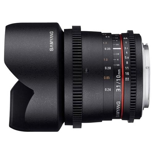 Объектив Samyang 10mm T3.1 ED AS NCS CS VDSLR II Canon EF