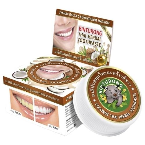 Зубная паста BINTURONG Coconut Thai Herbal с кокосовым маслом