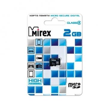 Карта памяти Mirex microSD Class 4 2GB