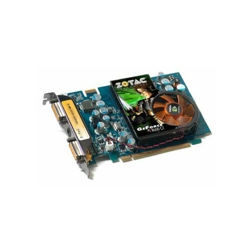 Видеокарта ZOTAC GeForce 8600 GT 540Mhz PCI-E 256Mb 1000Mhz 128 bit 2xDVI TV HDCP YPrPb