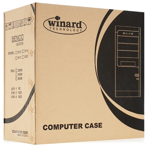 Компьютерный корпус Winard 5825B w/o PSU Black