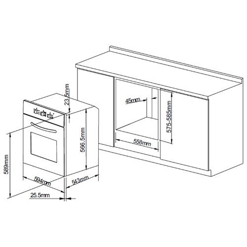 Электрический духовой шкаф PYRAMIDA F 42 M BL