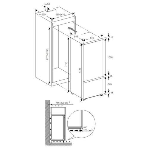 Встраиваемый холодильник GRAUDE IKG 180.2