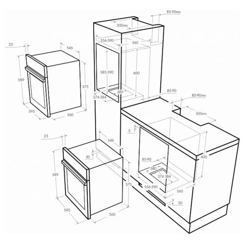 Электрический духовой шкаф MAUNFELD MEOFG 676RILB TRS
