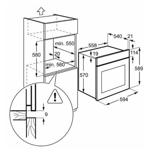 Электрический духовой шкаф Electrolux EZB 52410 AW