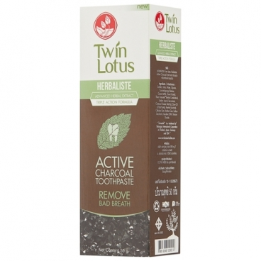 Зубная паста Twin Lotus Active Charcoal c углем