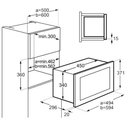 Микроволновая печь встраиваемая AEG MBB 1756D-M