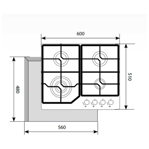 Варочная панель LEX GVG 6040-1 IV LIGHT
