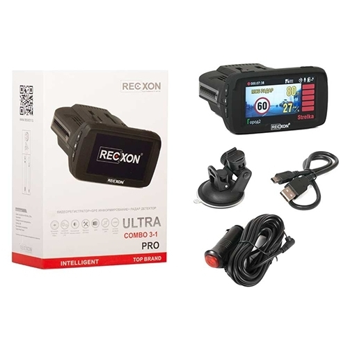 Видеорегистратор с радар-детектором RECXON Ultra Pro, GPS